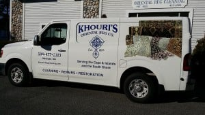 Khouri's Oriental Rug Cleaning Truck