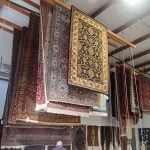 Oriental Rug Drying in Khouris climate controlled area.
