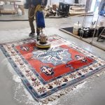 Shampooing an Oriental Rug at Khouri's