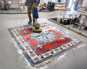 Shampooing an Oriental Rug at Khouri's