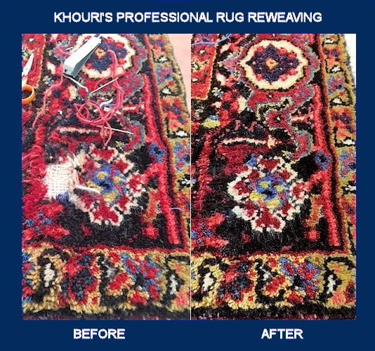 Oriental Rug Repair Before and After