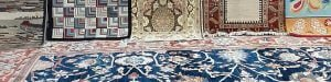 Oriental Rug Display at Khouri's Rugs